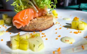 menus restaurant Peak District smoked salmon