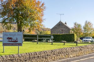 Plough Inn hotel B&B Hathersage Derbyshire rear and car park