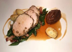 The Plough Inn Restaurant Hathersage, Hope Valley - pork