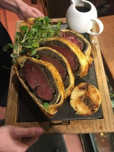 The Plough Inn Restaurant Hathersage, Hope Valley - Beef Wellington