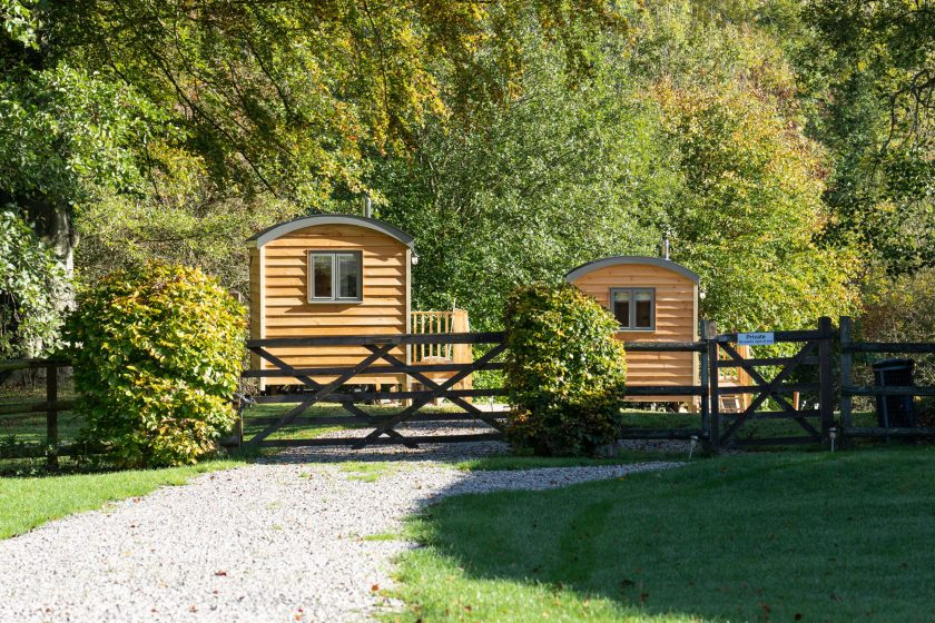 Shepherd huts B&B Peak District. Self Catering