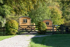 Shepherd Huts self catering accommodation Hathersage Derbyshire Peak District - exterior