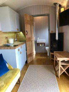 Shepherd Huts self catering accommodation Hathersage Derbyshire Peak District - interior