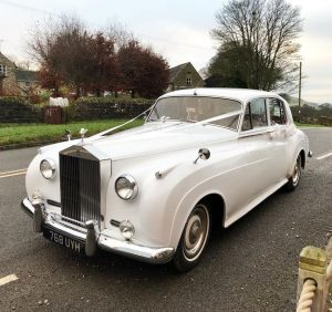 Wedding venue Hathersage, Hope Valley, Peak District - Rolls Royce wedding car