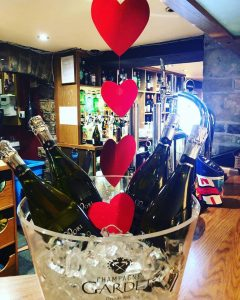 Wedding venue Hathersage, Hope Valley, Peak District - hearts and champagne